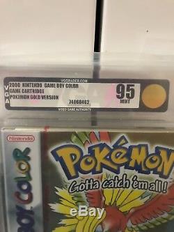 Pokemon Gold Gameboy Colour New Red Strip Sealed VGA Graded Games Nintendo