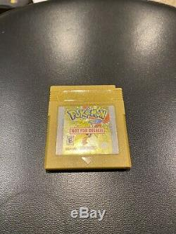 Pokemon Gold Nintendo Game Boy Color GBC Not For Resale NFR Sale Gameboy Rare