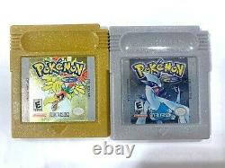 Pokemon Gold & Silver Version NINTENDO GAMEBOY Color with New Save Battery