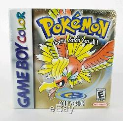 Pokemon Gold Version (Game Boy Color, 2000) FACTORY SEALED H SEAM