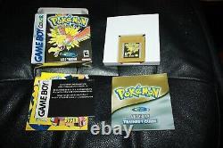 Pokemon Gold Version (Game Boy Color, 2000) GBC CIB COMPLETE