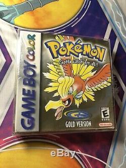 Pokemon Gold Version (Game Boy Color, 2000) SEALED NEW H SEAM NIB