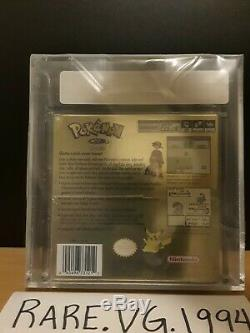 Pokemon Gold Version (Game Boy Color) Sealed VGA Graded 85+ NEAR MINT GOLD RARE