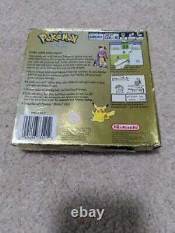 Pokemon Gold Version Gameboy Colour complete with manual AUS Release + protector