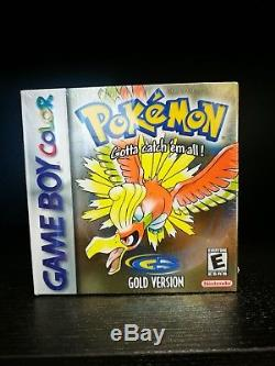 Pokemon Gold Version (Nintendo Game Boy Color, 2000) NIB Factory SEALED