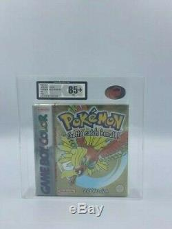 Pokemon Gold Version -PAL GameBoy Color- 2001 UKG GRADED 85+ NM+! RED STRIP
