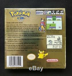 Pokemon Gold Version Sealed Gameboy Color Game Factory Sealed NEAR MINT
