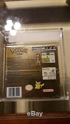 Pokemon Gold Version Sealed New Rare Gameboy Color Game Boy VGA Graded 80 NM