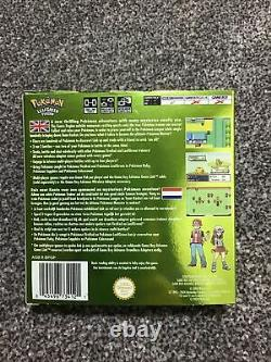 Pokemon LEAF GREEN Gameboy Colour BOXED with wireless adapter