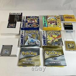 Pokemon Lot Trading Card Game, Silver, Gold, Pinball Gameboy Color- Complete CIB