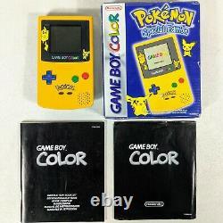 Pokémon Nintendo GameBoy Color Special Edition Console Pikachu Vintage Boxed