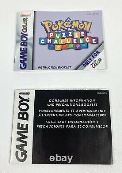 Pokemon Puzzle Challenge Nintendo Game Boy Color 2000 In Box! Rare