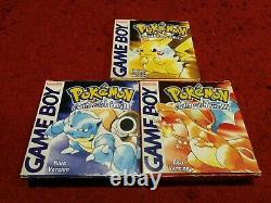 Pokémon Red Yellow Blue Version Special Pikachu Edition Boxed Gameboy Color GBC