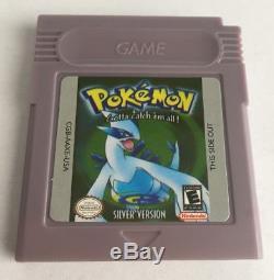 Pokemon Silver Version (Nintendo Game Boy Color) SAME DAY SHIPPING