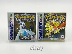Pokemon Silver and Gold Nintendo GameBoy Color & Official Game Guides Authentic
