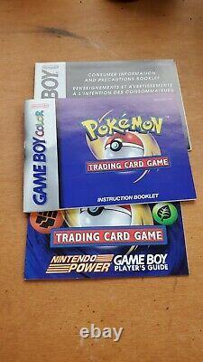 Pokemon Trading Card Game Nintendo GBC Game Boy Color Complete Authentic CIB