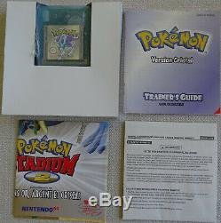 Pokemon Version Cristal Nintendo Game Boy Color Gbc