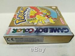 Pokemon Versione Oro Nintendo Game Boy Color Versione Italiana Usato Perfetto