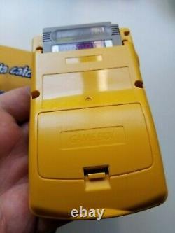 Pokemon Yellow Pikachu Version Nintendo Gameboy Color Handheld -with case