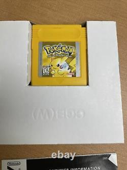 Pokemon Yellow Version Special Pikachu Edition Gameboy Color Complete in Box