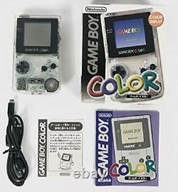 RARE Gameboy Color Console Clear Japan COLLECTORS ITEM New