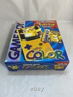 Rare Pokemon Game Boy Color Gbc Pokemon Yellow Ver. Game Pikachu New Sealed Nm