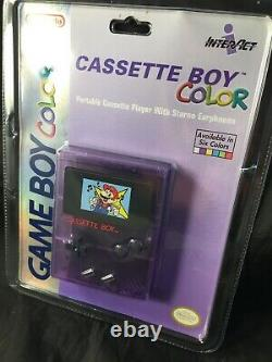 Rare Vintage 1999 Nintendo Gameboy CASSETTE BOY Color MARIO NEW FACTORY SEALED