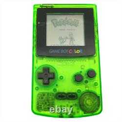 Refurbished Clear Green Nintendo Game Boy Color Console GBC System + Game Card