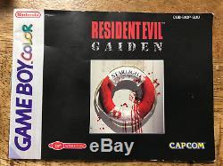 Resident Evil Gaiden Gameboy Color OVP / CIB PAL / EUR TOP