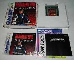 Resident Evil Gaiden (Nintendo Game Boy Color) GBC CIB COMPLETE
