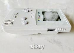STUNNING ALL WHITE GAME BOY COLOR GameBoy + Backlight Touch Sensitive Brightness