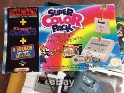 Super Nintendo Snes Pack Color Mario All Stars + Game Boy Pal Espana Esp Rare