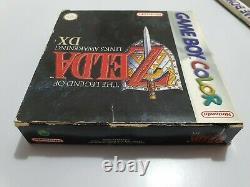 The Legend of Zelda LINK'S AWAKENING Dx Game Boy Color EUR COMPLETO Falta pila