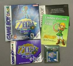 The Legend of Zelda Oracle of Ages (Blue) Nintendo GBC Game Boy Color COMPLETE
