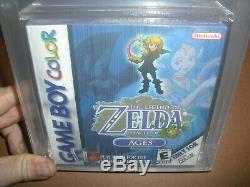 The Legend of Zelda Oracle of Ages NEW & Factory Sealed VGA 85+ Gameboy Color