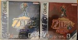 The Legend of Zelda Oracle of Ages / Seasons GameBoy Color Mint / Sealed