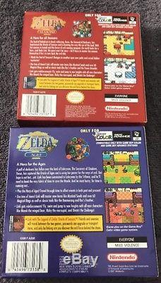 The Legend of Zelda Oracle of Ages + Seasons (Nintendo Game Boy Color) Complete