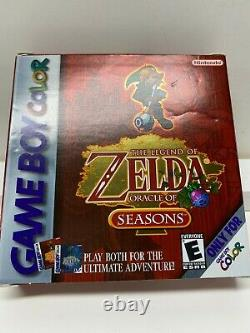 The Legend of Zelda Oracle of Seasons GameBoy Color BOX and BOOKS