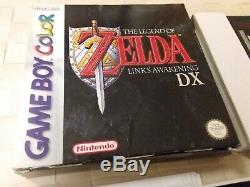 The legend of zelda link's awakening DX 100% original gameboy color GBC EUR CIB