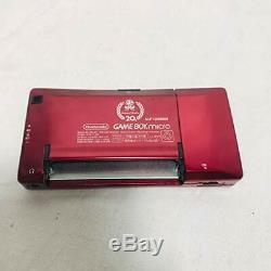 USED Nintendo Game Boy MIcro 20th Anniversary Famicom Color Mario Console Japan