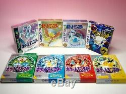 Used GAMEBOY COLOR POKEMON 8games SET GB GBC Gold Silver Crystal Blue Red GB JP