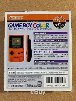 Used Game Boy Color System Clear Orange & Black Daiei Hawks Nintendo Japan