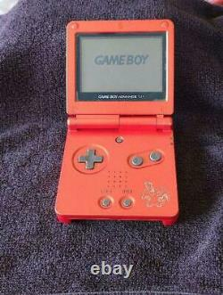 Used NINTENDO GAME BOY Advance SP Console POKEMON Center Charizard Limited Color