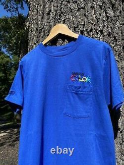 Vintage Nintendo Gameboy Color Video Game Promo Blue T-Shirt Size Large