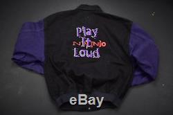 Vintage nintendo promo jacket play it loud gameboy color size medium