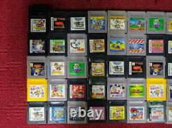WHOLESALE Nintendo GAME BOY Color Soft Cartridge random Lot 100 set Junk mario