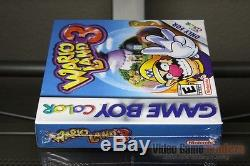 Wario Land 3 (Game Boy Color, 2000) H-SEAM SEALED! EXCELLENT! ULTRA RARE