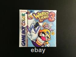 Wario Land 3 UK PAL Gameboy Color Red Strip! GAMEBOY, GBC, MINT
