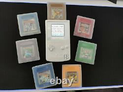 White Nintendo Gameboy Color Console With Backlit LCD Mod GBC