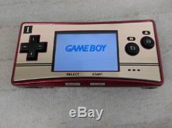 X1816 Nintendo Gameboy micro console Famicom color Japan withbox pouch
